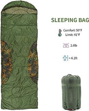 Saco de Dormir con Cremallera de Camping Aislamiento de Calor ...