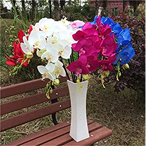 jiumengya 10pcs Artificial Phalaenopsis Butterfly Moth Orchid Fake Orchids Flower for Wedding Centerpieces Decorative Artificial Flowers 106