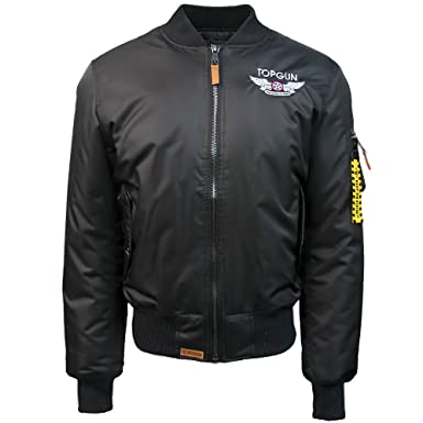 817b5c71943 Image Unavailable. Image not available for. Color  Top Gun Official MA 1  Wings Bomber Jacket ...