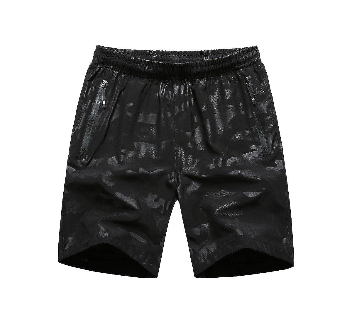 LIERDAR Men's Outdoor Quick Dry Lightweight Sports Shorts Zipper Pockets Beach Short LIERDAR Fashion