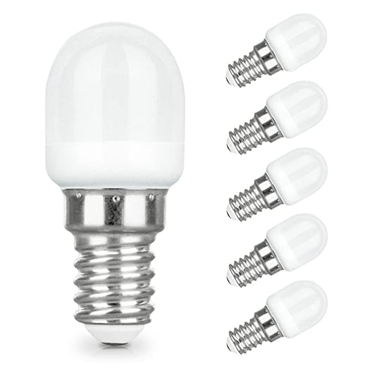 LAKES 5PACK Refrigerator Cooker Hood Light Bulb E14 LED 2W1520W