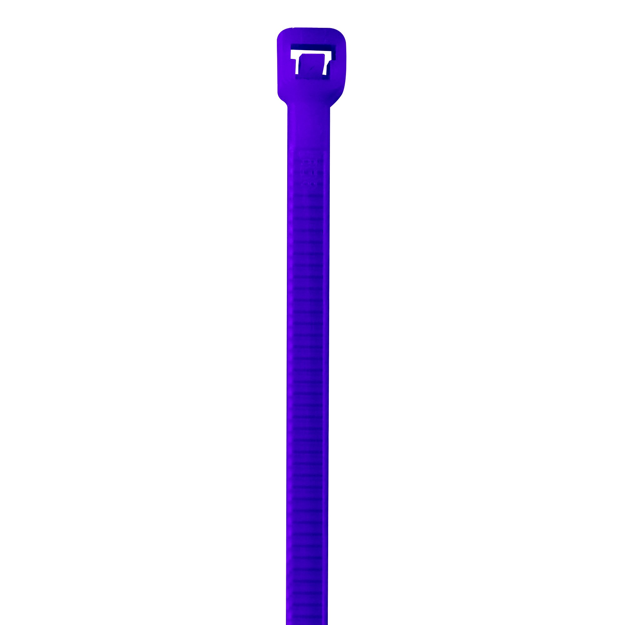BOX USA BCT444E Colored Cable Ties, 40#, 8'', Purple (Pack of 1000)