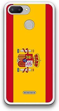 FidelStick Funda Carcasa Gel para Xiaomi Redmi 6 Bandera españa