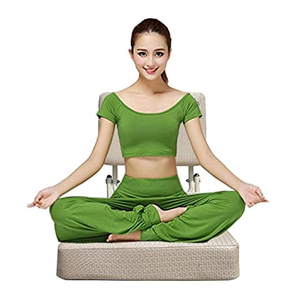 BTH Company Vipassana and Meditation Chair with Cushion Back Support