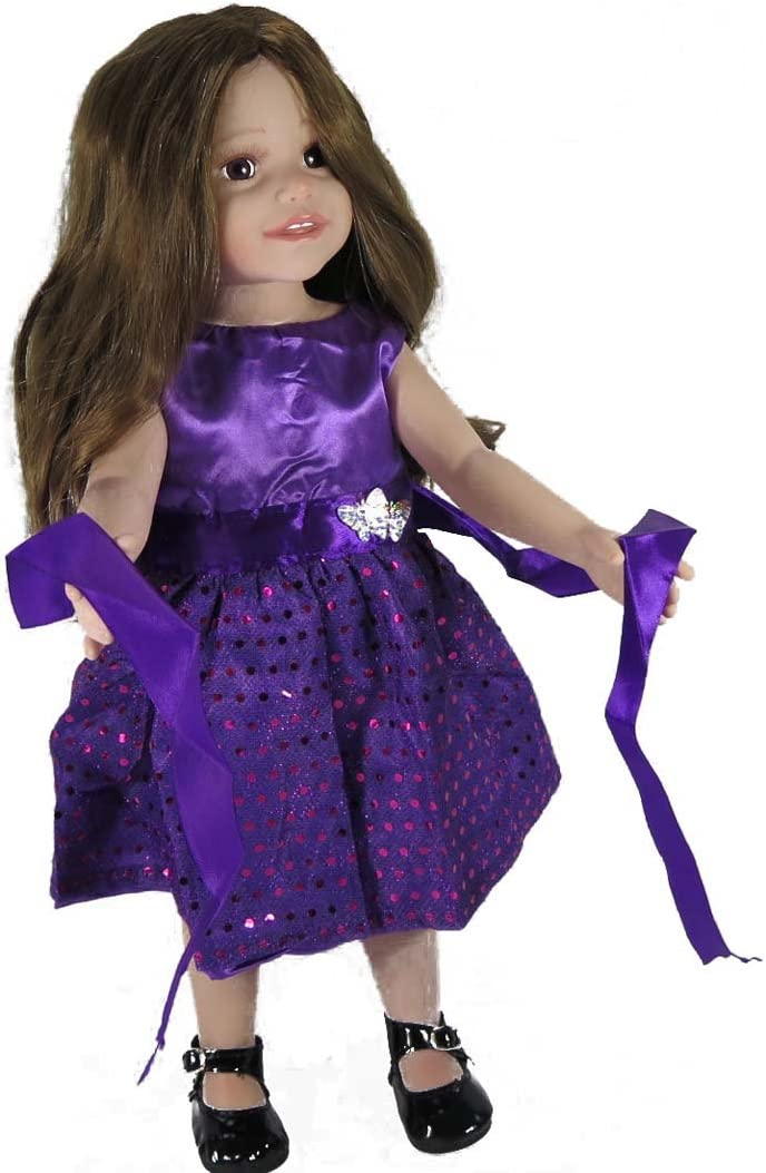 """6-7/"""" Doll Clothes-fit Mini American Girl  My Life-Top//Pants-Purple"""