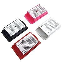 AFUNTA 4 Piezas Cubiertas Batería Carcasa Shell para el Control Inalámbrico Xbox 360-4 Colores (Negro, Blanco, Rojo, Rosa)