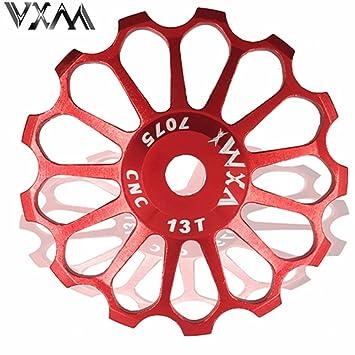 VXM 17T MTB Ceramic Bearing Jockey Polea De Rueda para bicicleta de carretera bicicleta cambio trasero de marchas, rojo: Amazon.es: Deportes y aire libre