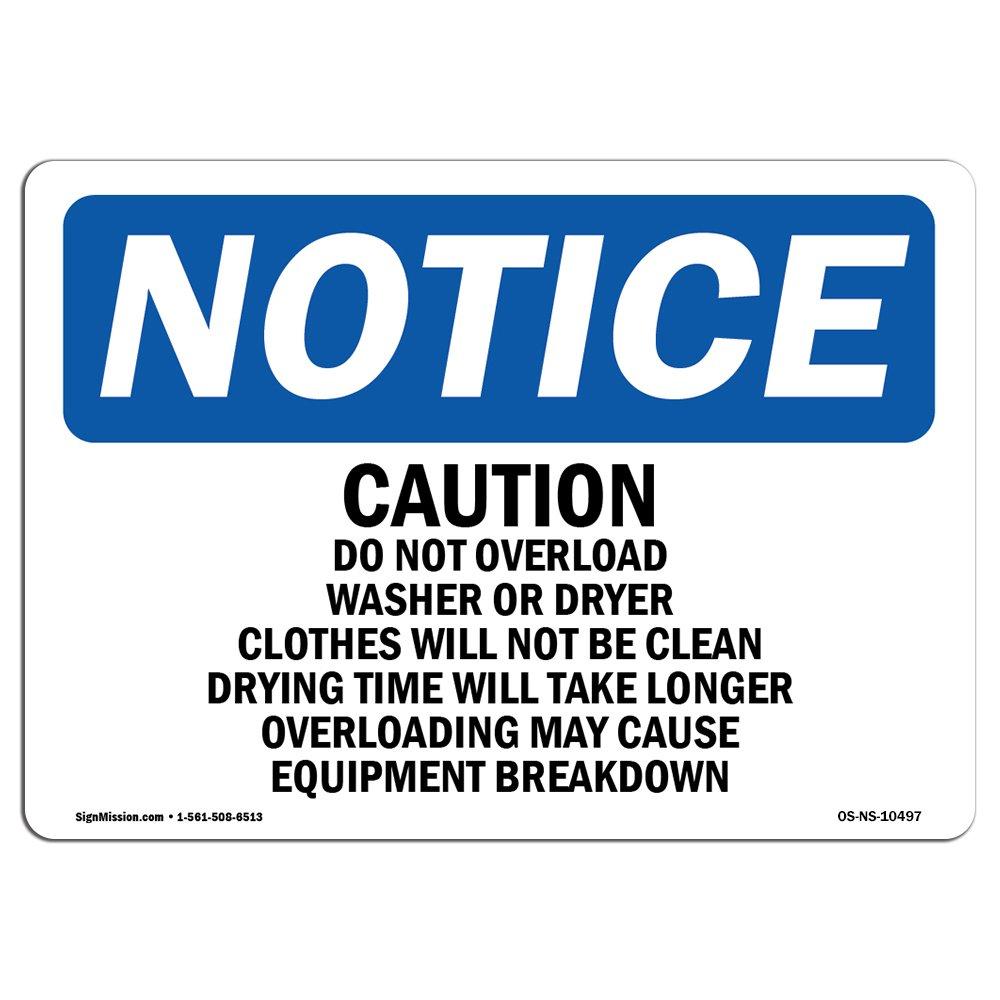 OSHA通知サイン – 洗濯室のルールresidents  から選択:リジッドプラスチックアルミニウム、またはラベルビニールデカール ビジネスを保護し、Construction Site、Warehouse   Made in the USA B07D8CSG7N