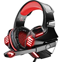 VersionTECH. Gaming Headset for PS5/ PS4/ Xbox One/PC, Noise Canceling Over-Ear Headphones with Mic, LED Lights & Volume…