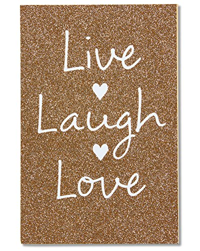 American Greetings Live Laugh Love Wedding Card with Glitter (5760242)