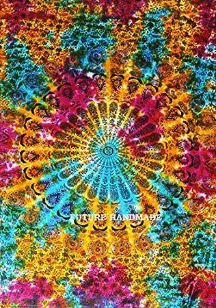 FUTURE HANDMADE Multi Color Mandala Tapices tapiz de indias Sábana Tapices de pared 100% algodón: Amazon.es: Hogar