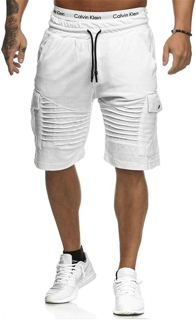Juleya Hombre Pantalones Cortos Deportivos - Bermudas ...
