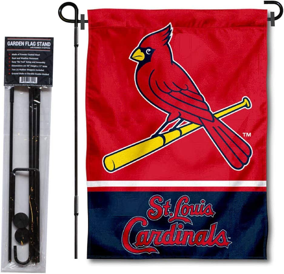 WinCraft St. Louis Cardinals Garden Flag with Stand Holder