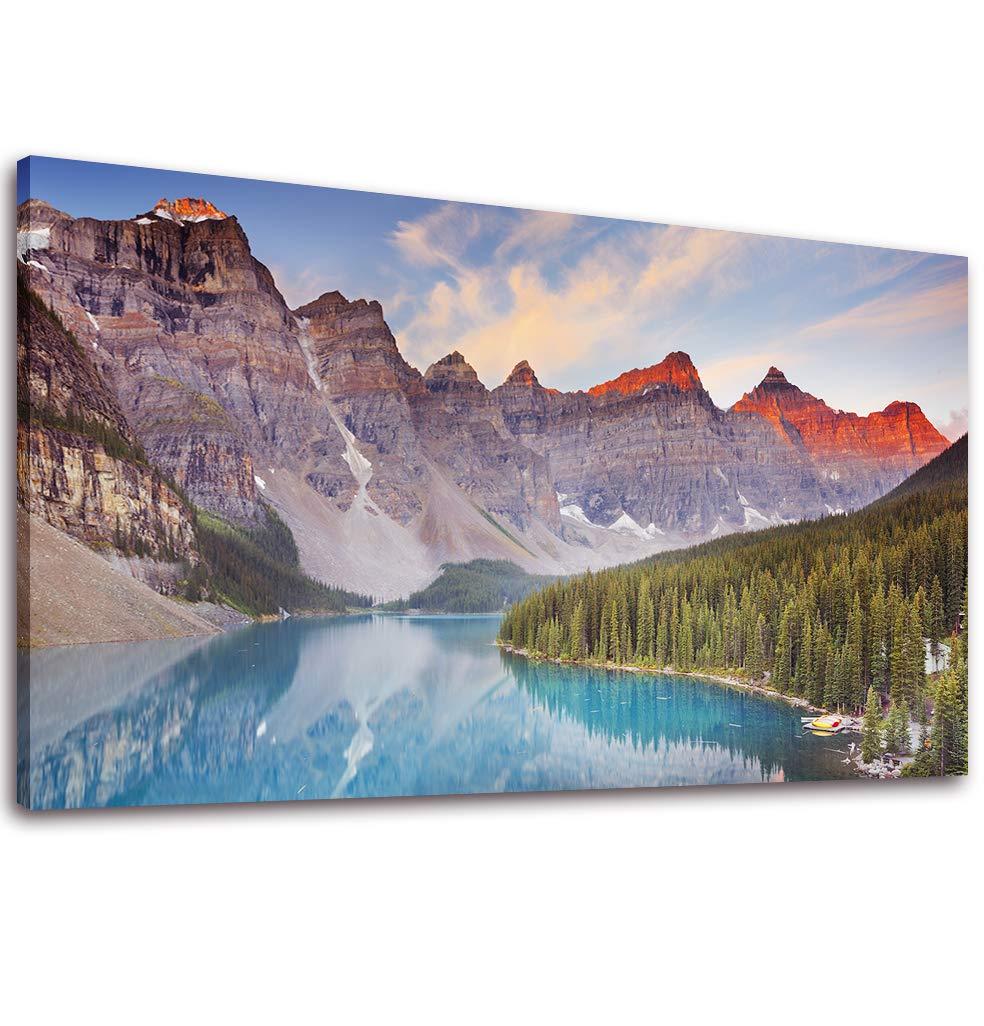 Canvas Wall Art Mountain and Lake Painting Print - 20