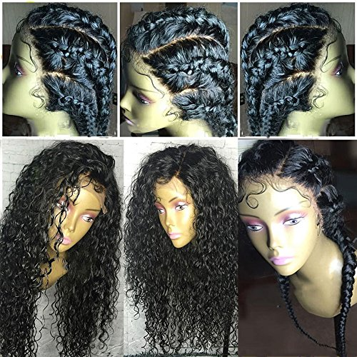 Rishang Hair Water Wave Silk Top Glueless Full Lace Human Hair Wigs for Black Women Virgin Silk Base Full Lace Front Wig 130% Density Lace Frontal Wig (20 inch silk top full lace wig,130 density) by Rishang Hair