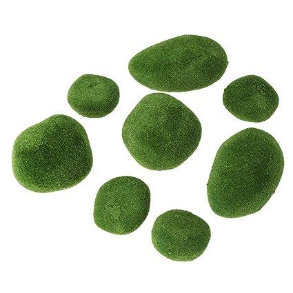 Buy Vosarea 20pcs Artificial Moss Stones Aquariums Terrarium Moss