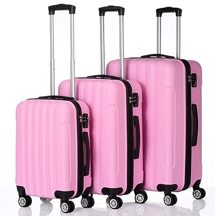 Amazon.com: 3 maletas universales de viaje para ruedas ...