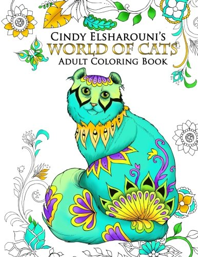 World Cats Adult Coloring Book product image