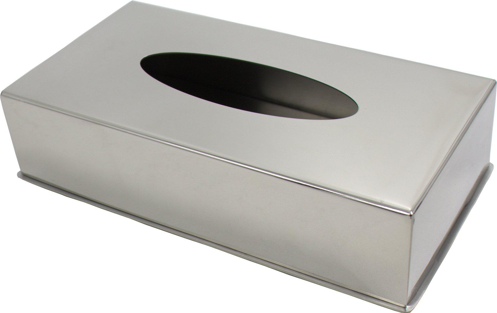 Baohao stainless steel rectangle napkin box napkin box 8.58''x4.57''x2.05''