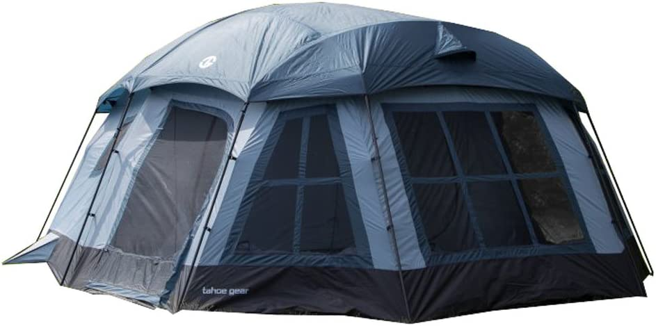 Tahoe Gear Ozark 3-Season 16 Person Large Family Cabin Tent  sc 1 st  Amazon.com & Family Camping Tents | Amazon.com