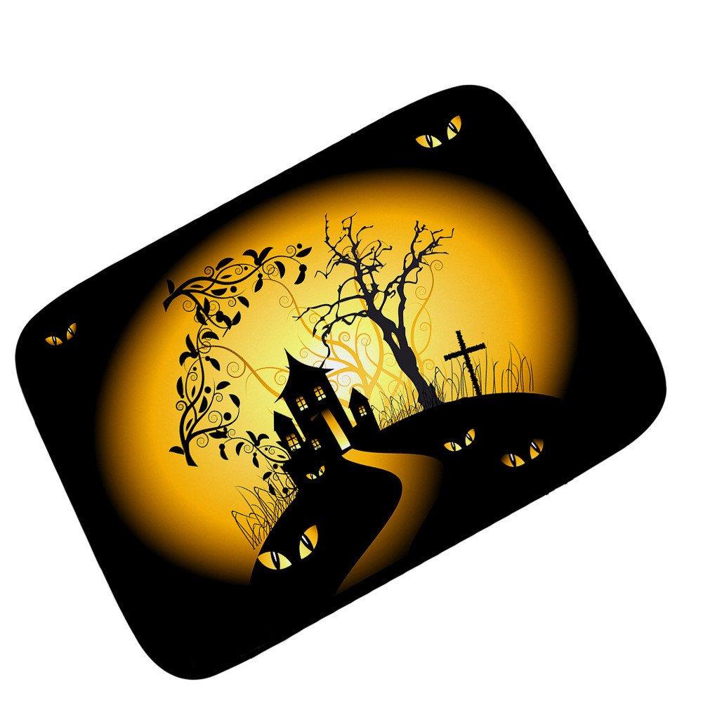 Pgojuni Cartoon Children Dress Up Halloween Ghosts Carpet Mats 1PC 40x60CM (E)