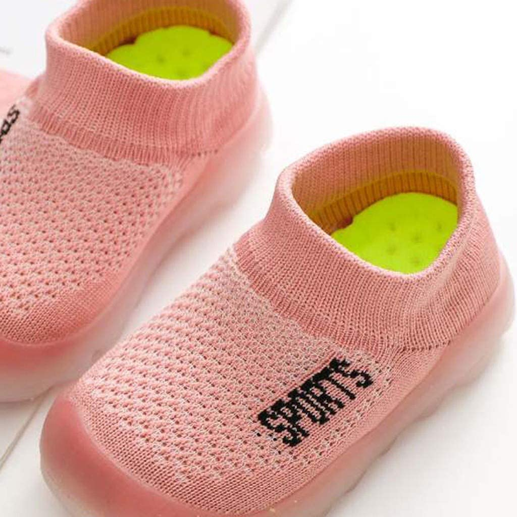 TADAMI Girls Boys Infant Little Kids Shoes Toddler Shoes Cute Knitted Breathable Shoes Cartoon Shoes Knitted Shoes