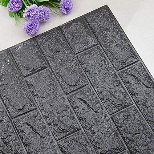 3D Brick Wall Stickers, Foam Wall Tile Easy Self-Adhesive Design Wall Paper Decorative Removable Soft Panels for Kitchen/Room Decor,SIN vimklo -