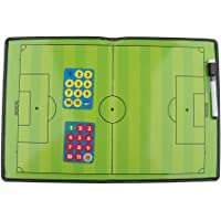 kesoto Soccer Strategy Coaching Clipboard/Football Training Board with Wipe Pen Eraser and Magnets, Practical and Reliable