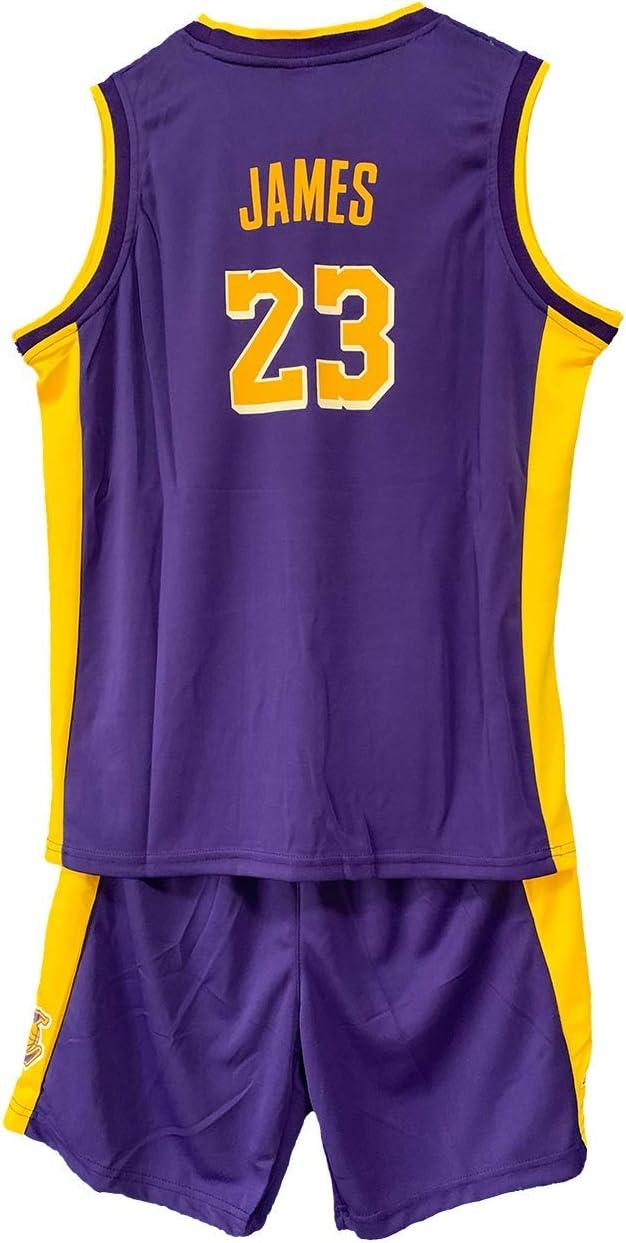 Lakers # 23 Lebron James Traje de Entrenamiento AIEEDR Camiseta de Baloncesto para ni/ño Jersey