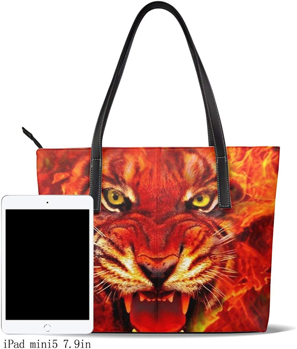 Shoulder Bag Backpack Handle Satchel Man Shoulder Bag Purse Messenger Bags Womens Leather Tote Bags Tiger Head Printing Handbag Organizer