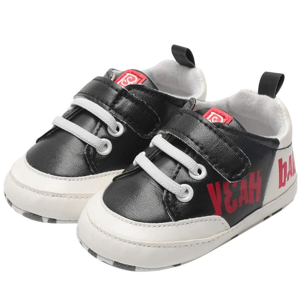Newborn Baby Girl Letter Leather Soft Anti-slip First Walker Princess Single Flat Shoes