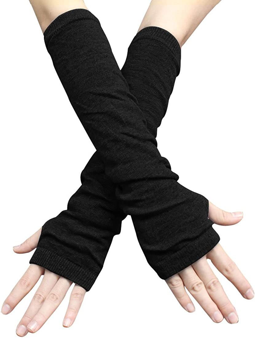 Allegra K Unisex Classic Fashion Stretch Fingerless Arm Warmmer Oversleeve