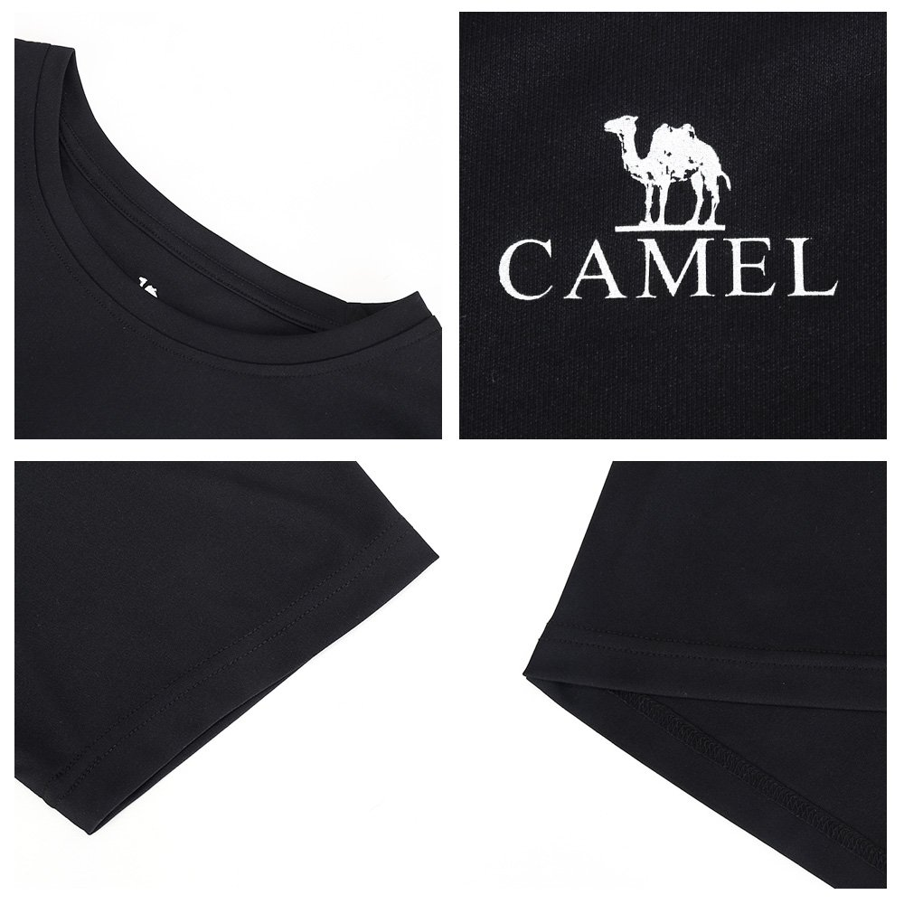 CAMEL CROWN Mens Short Sleeve Plain T-Shirt Vintage Casual Tee Tops Tops for Summer Gym Beach