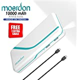MOERDON Power Bank for Mobile 10000 mAh with 2 USB Ports- White