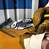 """S&R Tin Snips 250 mm / 9.8"""" Aviation, Straight Cut, Made of Cr-Mo Steel, For Cutting Metal Sheets, Metal Shears/Cutters"""