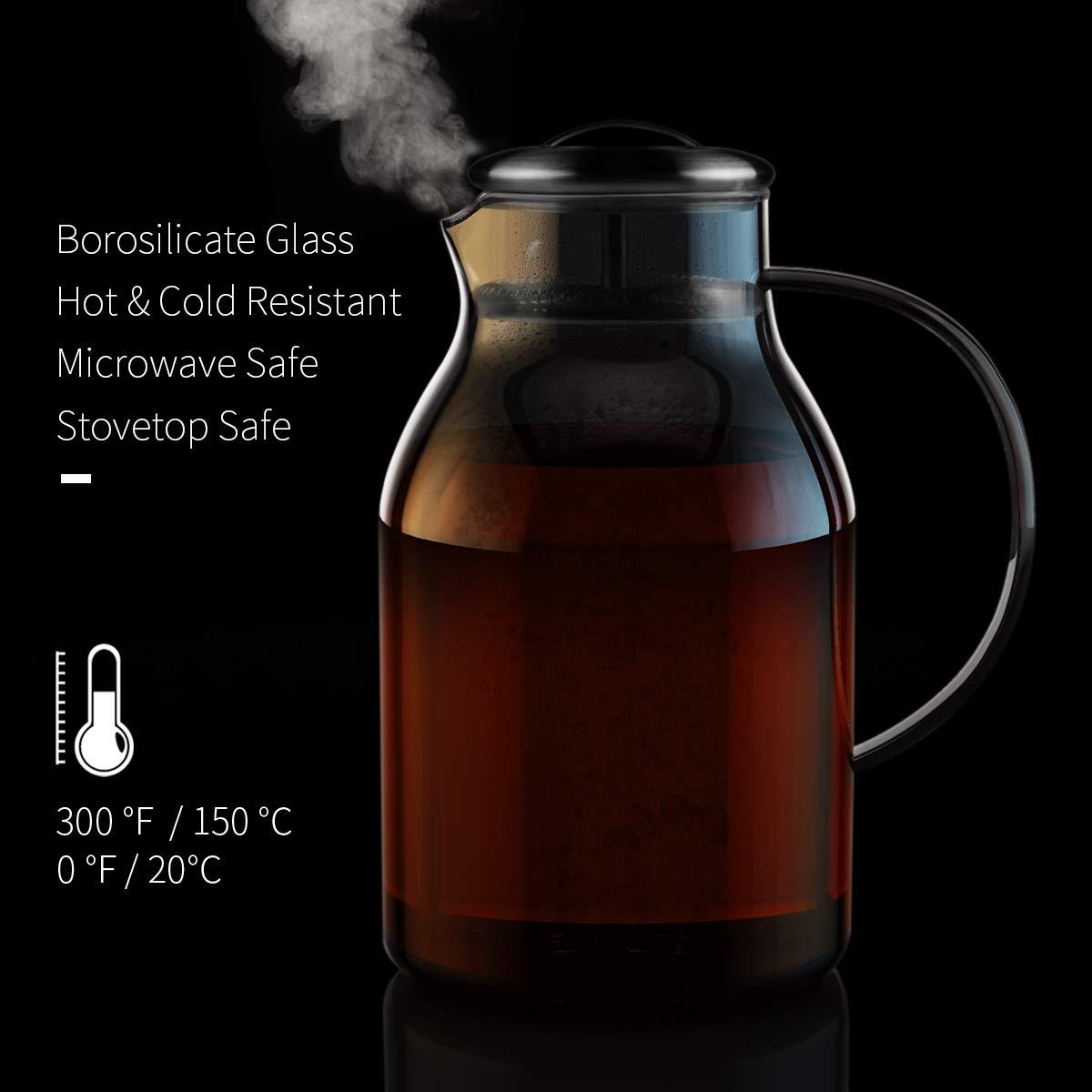 Morpilot glass pitcher