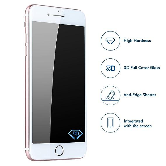 Amazon.com: Benks iPhone 8 Plus/7 Plus Tempered Glass Screen ...