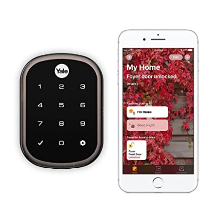62947de113f Amazon.com  Yale Assure Lock SL - Key Free Smart Lock with Touchscreen  Keypad - Works with Apple HomeKit and Siri (YRD256iM10BP) in Oil Rubbed  Bronze  Home ...