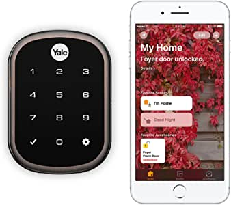 Yale Assure Lock SL - Key Free Smart Lock with Touchscreen Keypad - Works with Apple HomeKit and Siri, Oil Rubbed Bronze