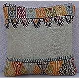 12'' X 12'' Bohemian Decor Handwoven Mud cloth Small Boho Kilim Rug Pillow Cover