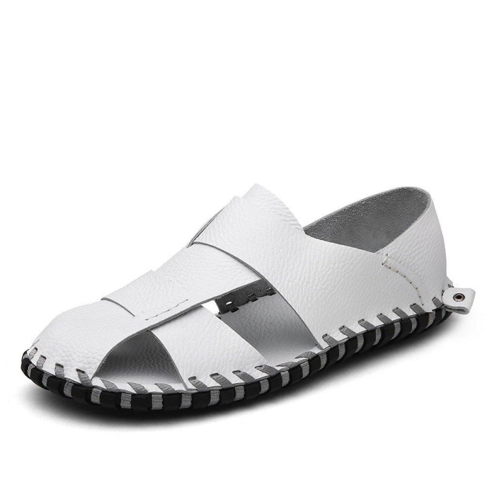 Sandalias De Verano Sandalias Huecas Transpirables Al Aire Libre Sandalias Baotou Sandalias De Hombre 40 EU|White