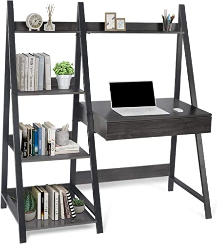 Best modern bookcase: Modern 4-Tier Ladder Bookcase