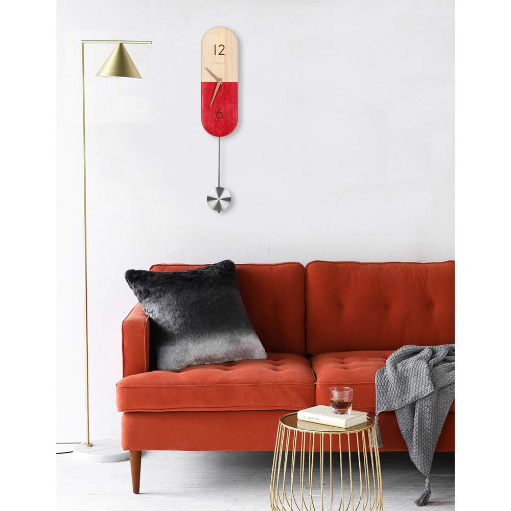 Amazon.com: Shemuyu - Reloj de pared con péndulo decorativo ...
