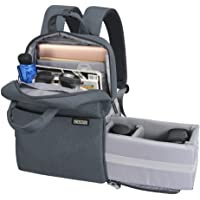 CADeN Kameratasche Fotorucksack für Frauen Männer Wasserdichter diebstahlgeschützter Fotografie & Casual Travel Kamera Bag Fall für DSLR Canon Nikon Sony (M,grau)