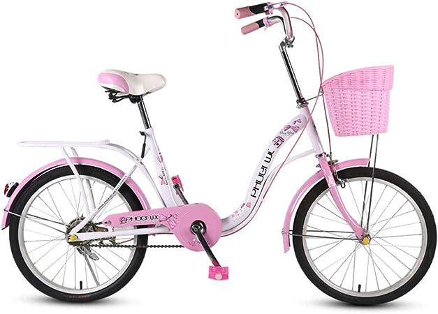 Bicicletas Niños Carro De Niña De 18 Pulgadas Plegable para Mujeres Silla De Paseo para Niños