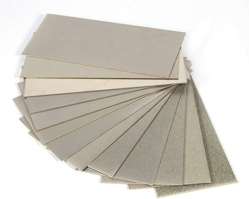 gris herramienta de piedras de afilar POWERTOOL Piedra de afilar de diamante piedra de afilar de afilado de cuchillos de molienda fina rectangular