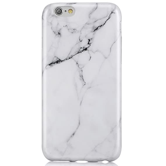 sports shoes 7aae5 a07fe VIVIBIN iPhone 6 Case,iPhone 6s Case,Cute White Marble for Men Women Girls  Clear Bumper Best Protective Soft Silicone Rubber Glossy TPU Cover Slim Fit  ...
