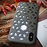 Electronics : Beautiful Safe Individualization Case for iPhone X With 2 in 1 Magic Mirror Series TPU+PC Perfectly match For Iphone X case (Color : Black)