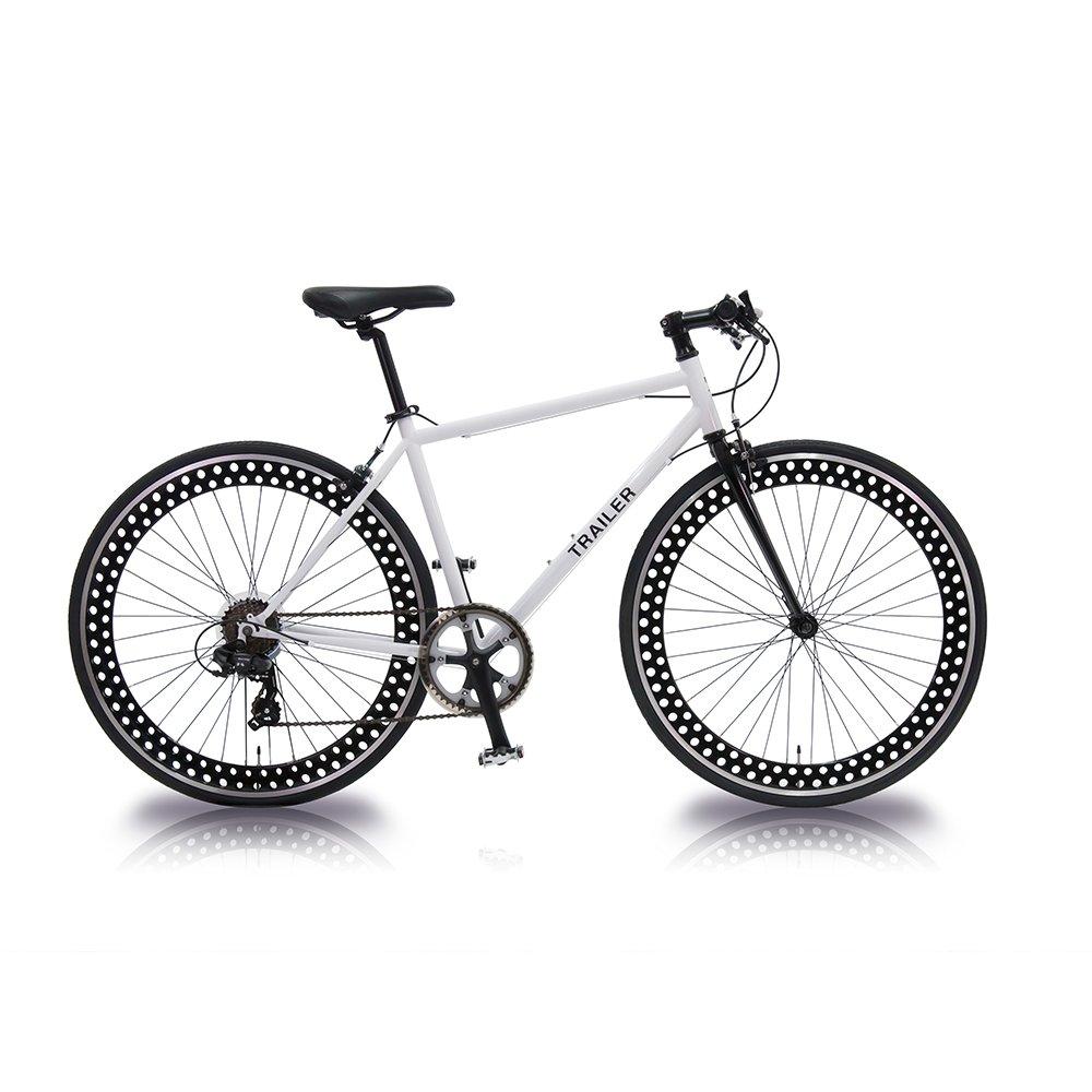 TRAILER(トレイラー) 700Cクロスバイク6段変速 TR-C7001 B01G1AGUFQ ホワイト ホワイト