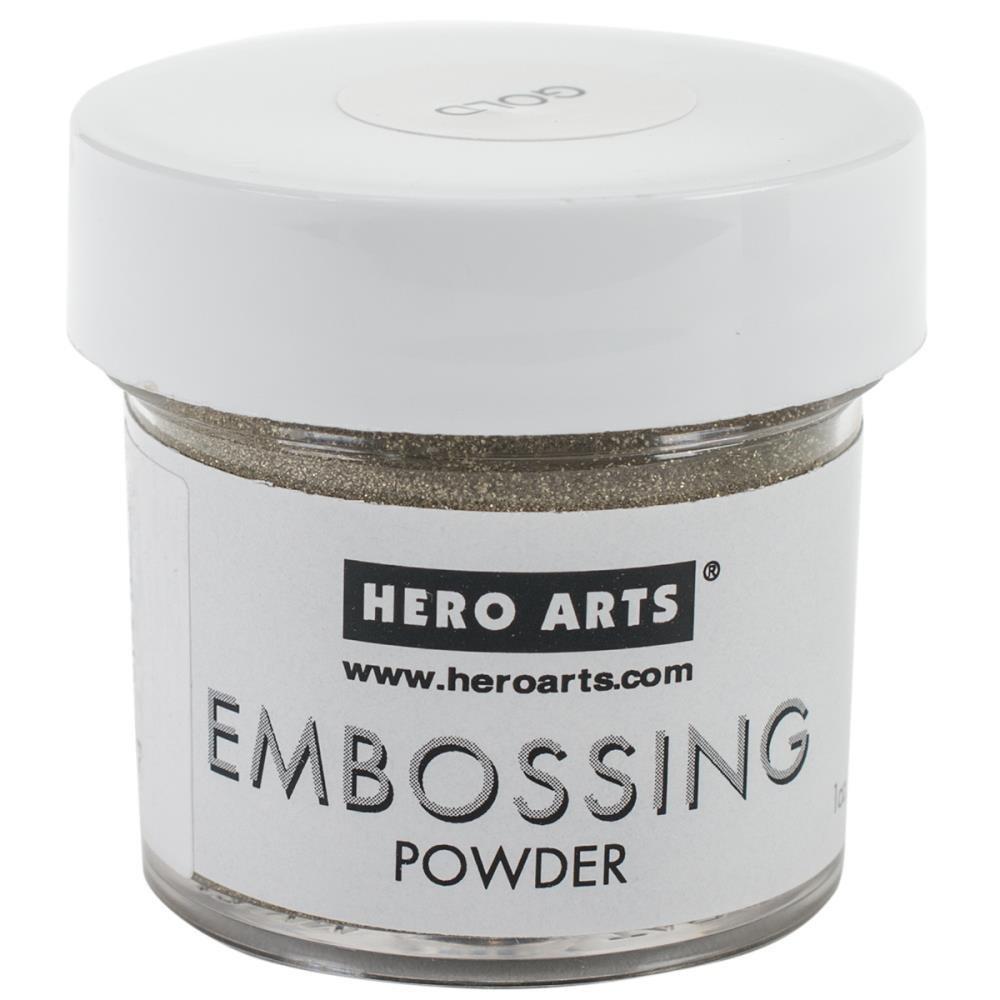Hero Arts Powders White /& Gold Versamark Ink Pad and Powder Tool Clear Heat Embossing Essentials